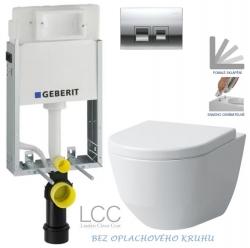 AKCE/SET/GEBERIT - SET KOMBIFIXBasic včetně ovládacího tlačítka DELTA 50 CR pro závěsné WC LAUFEN PRO LCC RIMLESS + SEDÁTKO (110.100.00.1 50CR LP2)