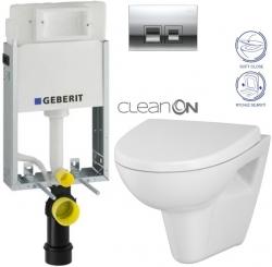 AKCE/SET/GEBERIT - KOMBIFIXBasic včetně ovládacího tlačítka DELTA 50 CR pro závěsné WC CERSANIT CLEANON PARVA + SEDÁTKO (110.100.00.1 50CR PA1)
