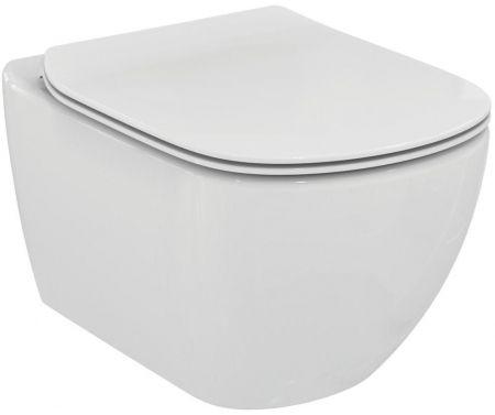 GEBERIT KOMBIFIXBasic vč. chromového tlačítka DELTA 50 + WC Ideal Standard Tesi se sedátkem SoftClose, AquaBlade  (110.100.00.1 50CR TE1)