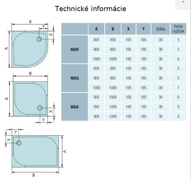 AKCE /SET/SanSwiss - Sprchová vanička PRIM obdélník 800x1200 bílá BEZ NOH-8 Marblemate (PRIM80120), fotografie 10/5