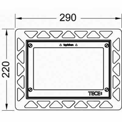 TECE - loop instalační rámeček 9.240.646 (K9533093)