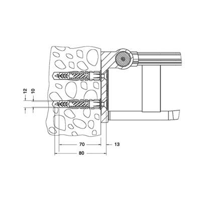 KEUCO - PLAN CARE montážní set 34991000100 (K9533830)