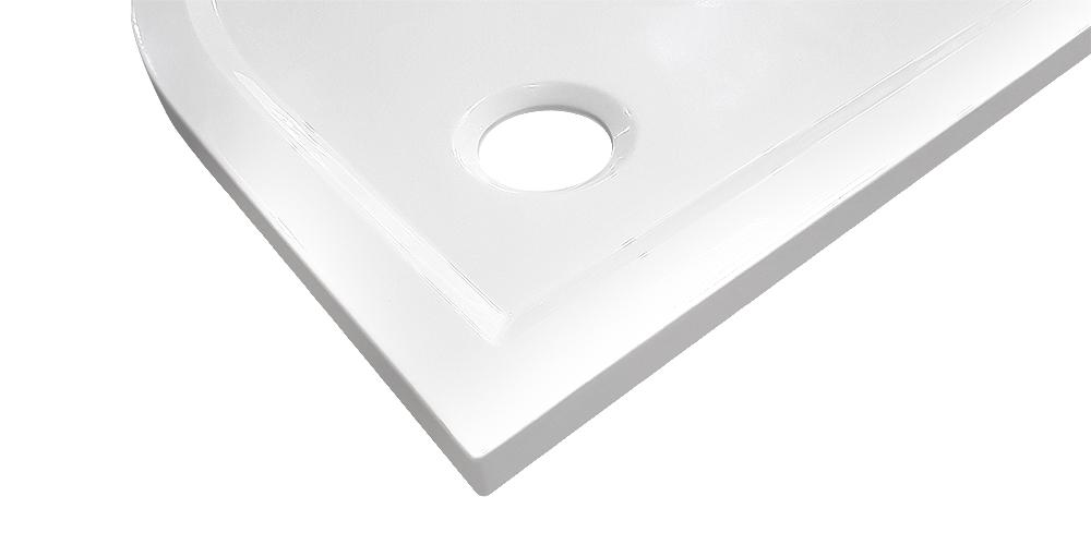 AKCE /SET/SanSwiss - Sprchová vanička PRIM obdélník 800x1200 bílá BEZ NOH-8 Marblemate (PRIM80120), fotografie 2/5