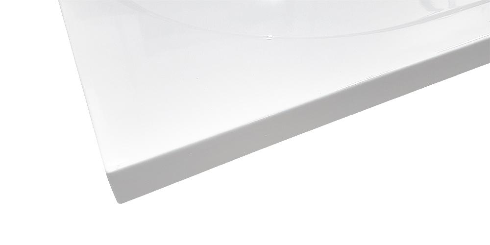 AKCE /SET/SanSwiss - Sprchová vanička PRIM obdélník 800x1200 bílá BEZ NOH-8 Marblemate (PRIM80120), fotografie 4/5