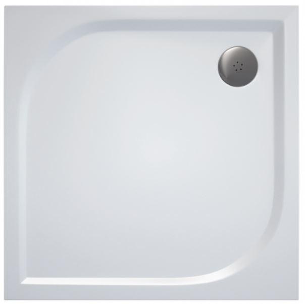 AKCE/SET/SanSwiss - Sprchová vanička PRIM čtverec 900x900 bílá BEZ NOH-5  (PRIM9090)