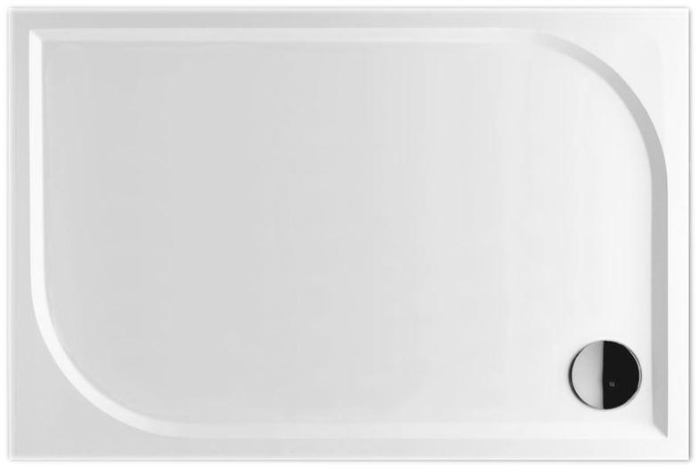 AKCE/SET/SanSwiss - Sprchová vanička PRIM obdélník  800x1000 bílá BEZ NOH-6 Marblemate (PRIM80100)