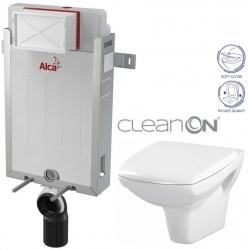 AKCE/SET/ALCAPLAST - SET Renovmodul - předstěnový instalační systém + WC CERSANIT CLEANON CARINA + SEDÁTKO (AM115/1000 X CA2)