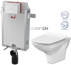AKCE/SET/ALCAPLAST - SET Renovmodul - předstěnový instalační systém + WC CERSANIT CLEANON CARINA + SEDÁTKO (AM115/1000 X CA3)