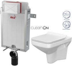 AKCE/SET/ALCAPLAST - SET Renovmodul - předstěnový instalační systém + WC CERSANIT CLEANON COMO + SEDÁTKO (AM115/1000 X CO1)