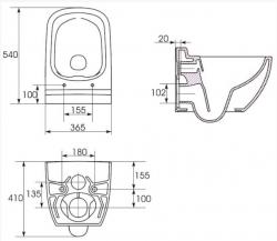AKCE/SET/ALCAPLAST - Renovmodul - předstěnový instalační systém + WC CERSANIT CLEANON CASPIA + SEDÁTKO (AM115/1000 X CP1), fotografie 12/7