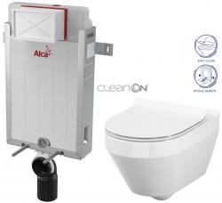 AKCE/SET/ALCAPLAST - SET Renovmodul - předstěnový instalační systém + WC CERSANIT CLEANON CREA OVÁL + SEDÁTKO (AM115/1000 X CR1)