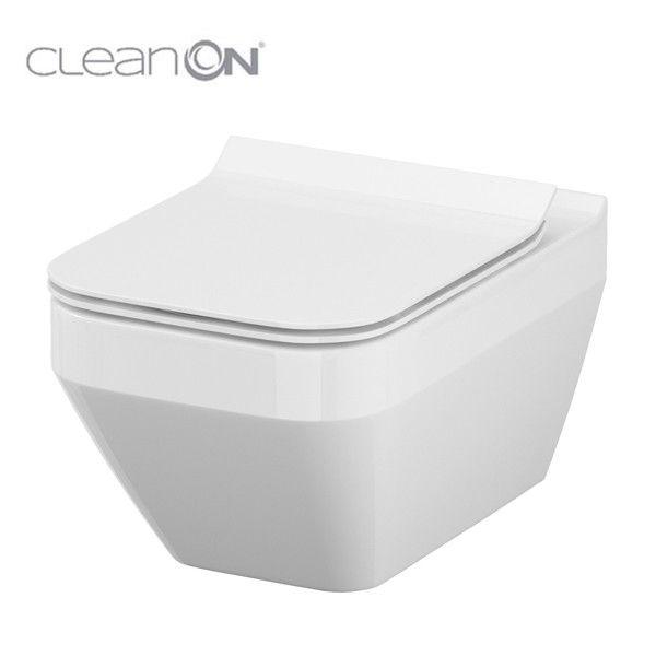 ALCAPLAST  Renovmodul - předstěnový instalační systém bez tlačítka + WC CERSANIT CLEANON CREA čtverec + SEDÁTKO (AM115/1000 X CR2)