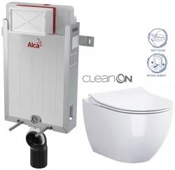 AKCE/SET/ALCAPLAST - SET Renovmodul - předstěnový instalační systém + WC OPOCZNO CLEANON URBAN HARMONY + SEDÁTKO (AM115/1000 X HA1)