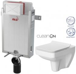 AKCE/SET/ALCAPLAST - SET Renovmodul - předstěnový instalační systém + WC CERSANIT CLEANON SPLENDOUR + SEDÁTKO (AM115/1000 X SP1)