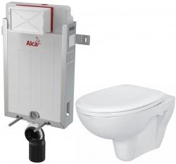 AKCE/SET/ALCAPLAST - Renovmodul - předstěnový instalační systém + WC CERSANIT PRESIDENT + SEDÁTKO (AM115/1000 X PR1)