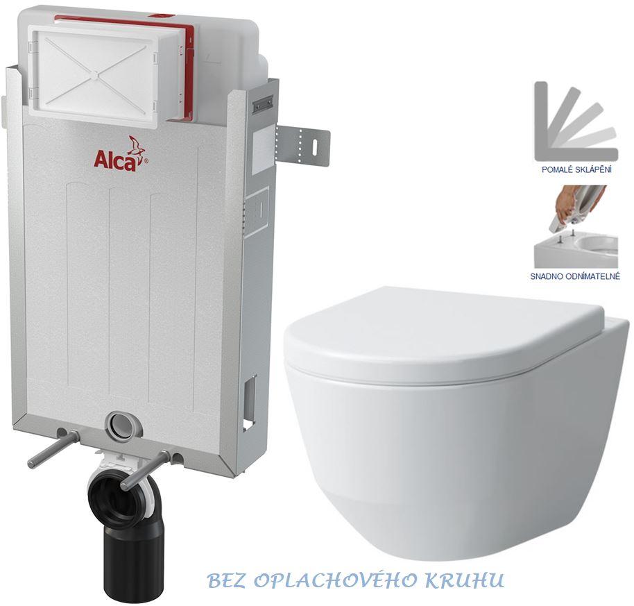 AKCE/SET/ALCAPLAST SET Renovmodul předstěnový instalační systém + WC LAUFEN PRO RIMLESS + SEDÁTKO AM115/1000 X LP1