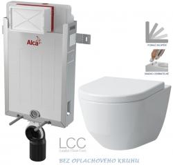 AKCE/SET/ALCAPLAST - SET Renovmodul - předstěnový instalační systém + WC LAUFEN PRO LCC RIMLESS + SEDÁTKO (AM115/1000 X LP2)