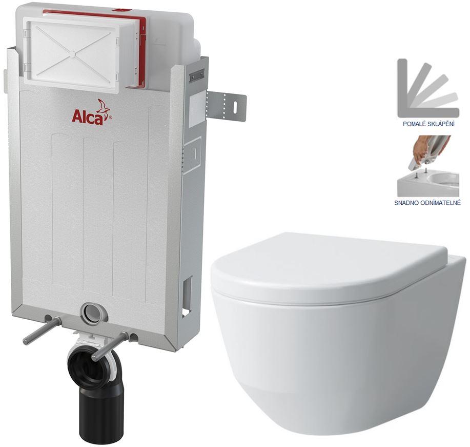 AKCE/SET/ALCAPLAST SET Renovmodul předstěnový instalační systém + WC LAUFEN PRO + SEDÁTKO AM115/1000 X LP3