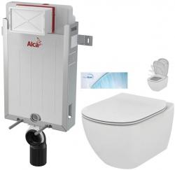 AKCE/SET/ALCAPLAST - SET Renovmodul - předstěnový instalační systém + WC TESI se sedátkem SoftClose, AquaBlade (AM115/1000 X TE1)