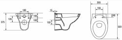 AKCE/SET/ALCAPLAST - SET Renovmodul - předstěnový instalační systém + tlačítko M1710 + WC CERSANIT ARES + SEDÁTKO (AM115/1000 M1710 AR1), fotografie 14/8