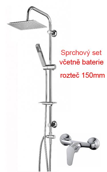 Sprchový sloup Easy včetně sprchové baterie Calimero 150mm (755241setCALIMERO)
