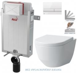 AKCE/SET/ALCAPLAST - SET Renovmodul - předstěnový instalační systém + tlačítko M1710 + WC LAUFEN PRO RIMLESS + SEDÁTKO (AM115/1000 M1710 LP1)