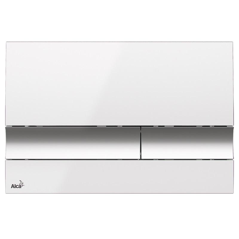 AKCE/SET/ALCAPLAST - Renovmodul - předstěnový instalační systém + tlačítko M1720-1 + WC CERSANIT CLEANON COMO + SEDÁTKO (AM115/1000 M1720-1 CO1), fotografie 2/8