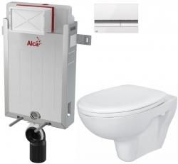 AKCE/SET/ALCAPLAST - SET Renovmodul - předstěnový instalační systém + tlačítko M1720-1 + WC CERSANIT PRESIDENT + SEDÁTKO (AM115/1000 M1720-1 PR1)
