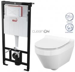 AKCE/SET/ALCAPLAST - Sádromodul - předstěnový instalační systém určený pro suchou instalaci 1,2 m + WC CERSANIT CLEANON CREA OVÁL + SEDÁTKO (AM101/1120 X CR1)