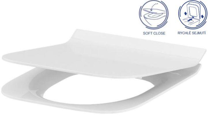 AKCE/SET/ALCAPLAST - Sádromodul - předstěnový instalační systém určený pro suchou instalaci 1,2 m + WC CERSANIT CLEANON CREA ČTVEREC + SEDÁTKO (AM101/1120 X CR2), fotografie 12/7