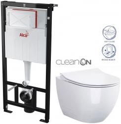 AKCE/SET/ALCAPLAST - Sádromodul - předstěnový instalační systém určený pro suchou instalaci 1,2 m + WC OPOCZNO CLEANON URBAN HARMONY + SEDÁTKO (AM101/1120 X HA1)