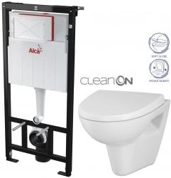 AKCE/SET/ALCAPLAST - Sádromodul - předstěnový instalační systém určený pro suchou instalaci 1,2 m + WC CERSANIT CLEANON PARVA + SEDÁTKO (AM101/1120 X PA1)