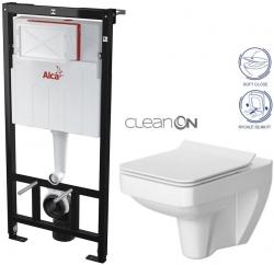 AKCE/SET/ALCAPLAST - Sádromodul - předstěnový instalační systém určený pro suchou instalaci 1,2 m + WC CERSANIT CLEANON SPLENDOUR + SEDÁTKO (AM101/1120 X SP1)