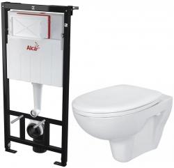 AKCE/SET/ALCAPLAST - SET Sádromodul - předstěnový instalační systém určený pro suchou instalaci 1,2 m + WC CERSANIT PRESIDENT + SEDÁTKO (AM101/1120 X PR1)