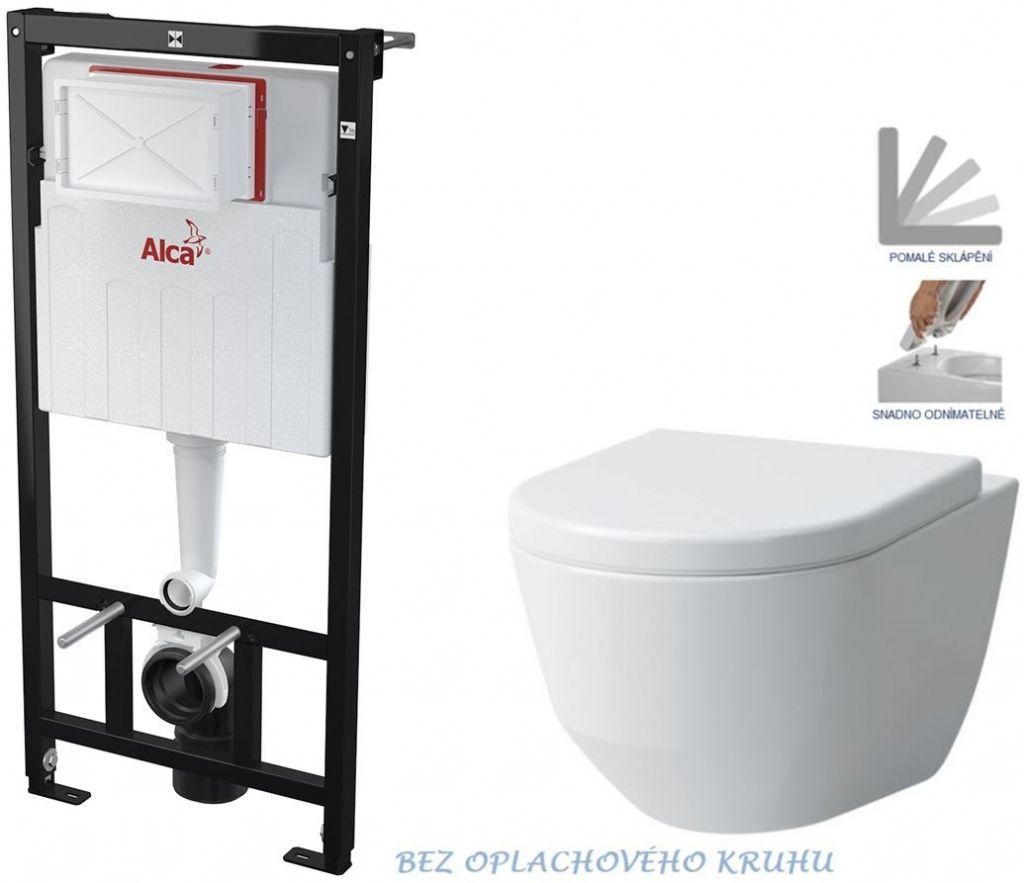 ALCAPLAST Sádromodul předstěnový instalační systém bez tlačítka + WC LAUFEN PRO RIMLESS + SEDÁTKO AM101/1120 X LP1