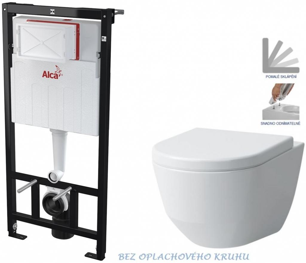 AKCE/SET/ALCAPLAST - Sádromodul - předstěnový instalační systém určený pro suchou instalaci 1,2 m + WC LAUFEN PRO RIMLESS + SEDÁTKO (AM101/1120 X LP1)