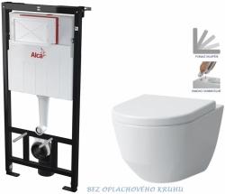 AKCE/SET/ALCAPLAST - SET Sádromodul - předstěnový instalační systém určený pro suchou instalaci 1,2 m + WC LAUFEN PRO RIMLESS + SEDÁTKO (AM101/1120 X LP1)