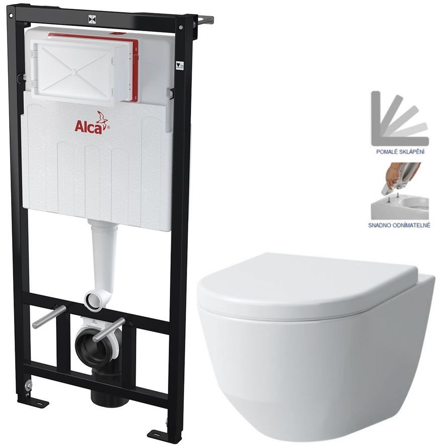 ALCAPLAST Sádromodul předstěnový instalační systém bez tlačítka + WC LAUFEN PRO + SEDÁTKO AM101/1120 X LP3