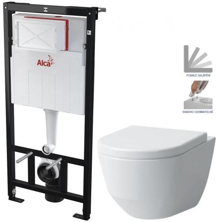 AKCE/SET/ALCAPLAST - SET Sádromodul - předstěnový instalační systém určený pro suchou instalaci 1,2 m + WC LAUFEN PRO + SEDÁTKO (AM101/1120 X LP3)