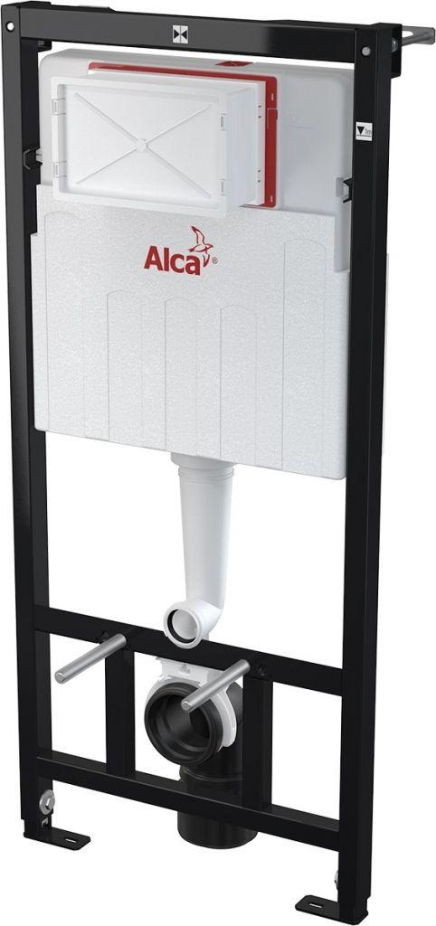 ALCAPLAST  Sádromodul - předstěnový instalační systém s bílým tlačítkem M1710 + WC CERSANIT CLEANON CARINA + SEDÁTKO (AM101/1120 M1710 CA3)