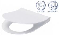 ALCAPLAST  Sádromodul - předstěnový instalační systém s bílým/ chrom tlačítkem M1720-1 + WC CERSANIT ZEN CLEANON + SEDÁTKO (AM101/1120 M1720-1 HA1), fotografie 20/10