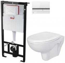 AKCE/SET/ALCAPLAST - SET Sádromodul - předstěnový instalační systém + tlačítko M1720-1 + WC CERSANIT PRESIDENT + SEDÁTKO (AM101/1120 M1720-1 PR1)