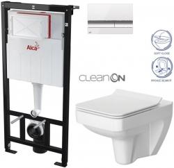 AKCE/SET/ALCAPLAST - Sádromodul - předstěnový instalační systém + tlačítko M1720-1 + WC CERSANIT CLEANON SPLENDOUR + SEDÁTKO (AM101/1120 M1720-1 SP1)