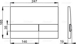 AKCE/SET/ALCAPLAST - SET Sádromodul - předstěnový instalační systém + tlačítko M1721 + WC CERSANIT CLEANON CARINA + SEDÁTKO (AM101/1120 M1721 CA3), fotografie 6/9