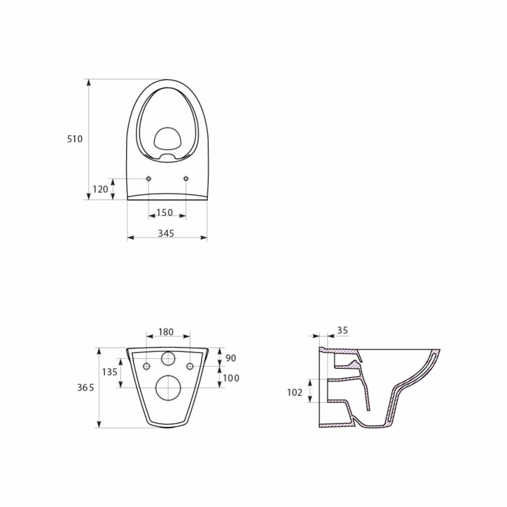 AKCE/SET/ALCAPLAST - Sádromodul - předstěnový instalační systém + tlačítko M1721 + WC CERSANIT CLEANON PARVA + SEDÁTKO (AM101/1120 M1721 PA2), fotografie 10/8