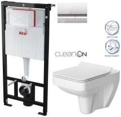 AKCE/SET/ALCAPLAST - Sádromodul - předstěnový instalační systém + tlačítko M1721 + WC CERSANIT CLEANON SPLENDOUR + SEDÁTKO (AM101/1120 M1721 SP1)