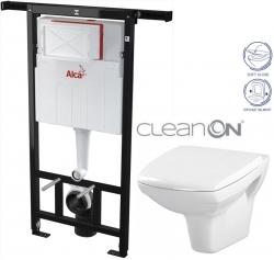 AKCE/SET/ALCAPLAST - SET Jádromodul - předstěnový instalační systém + WC CERSANIT CLEANON CARINA + SEDÁTKO (AM102/1120 X CA2)