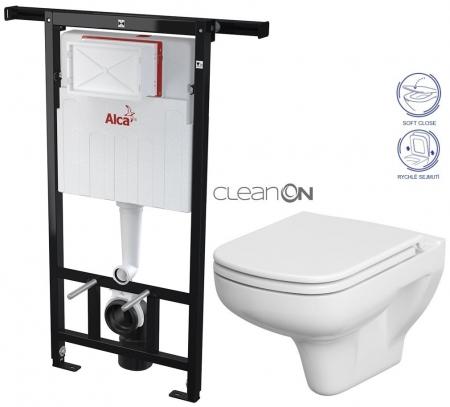 AKCE/SET/ALCAPLAST - SET Jádromodul - předstěnový instalační systém + WC CERSANIT CLEANON COLOUR + SEDÁTKO (AM102/1120 X CN1)