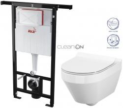 AKCE/SET/ALCAPLAST - SET Jádromodul - předstěnový instalační systém + WC CERSANIT CLEANON CREA OVÁL + SEDÁTKO (AM102/1120 X CR1)