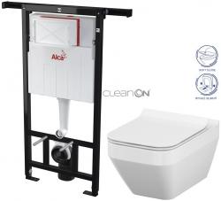 AKCE/SET/ALCAPLAST - SET Jádromodul - předstěnový instalační systém + WC CERSANIT CLEANON CREA ČTVEREC + SEDÁTKO (AM102/1120 X CR2)
